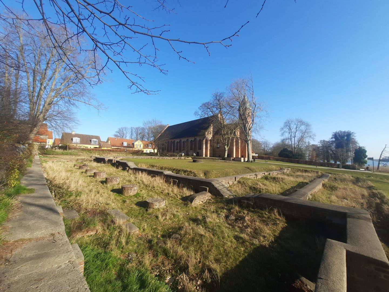 Klosterruinen set mod Domkirken